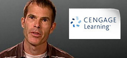 video screenshot of customer testimonial video from Cengage Learning