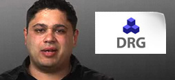 video screenshot of customer testimonial video from DRG