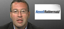 video screenshot of customer testimonial video from Newell Rubbermaid