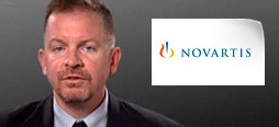 video screenshot of customer testimonial video from Novartis