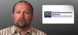 video screenshot of customer testimonial video from TeleCommunications Systems