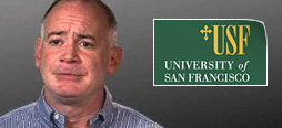 video screenshot of customer testimonial video from University of San Francisco