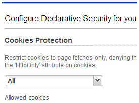 Cookies Protection Screenshot