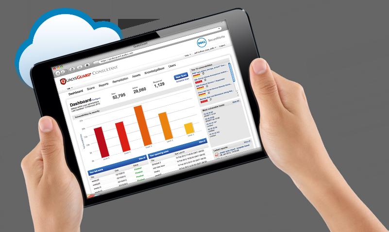 Qualys Consultant screenshot in an iPad